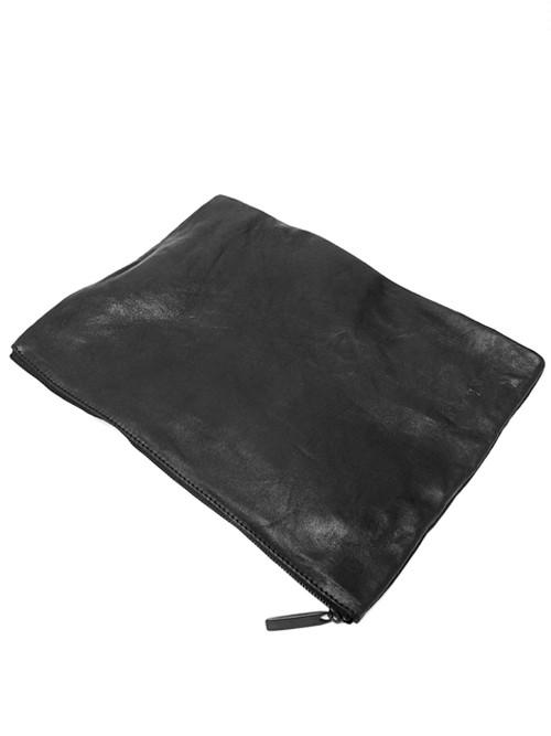 Leather-washed pochette L 'shine' ポーチ 156ABG15