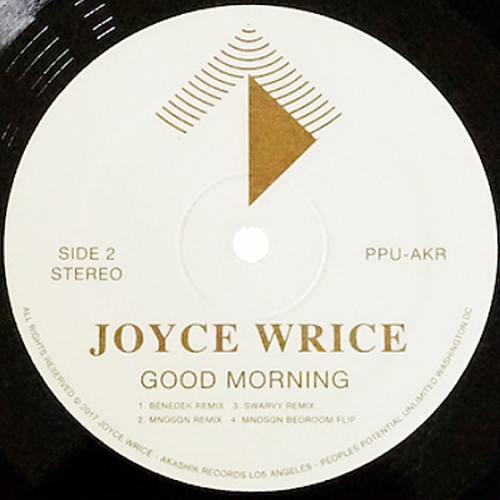 "【12""】Joyce Wrice - Good Morning -Incl.Mndsgn Remix-"