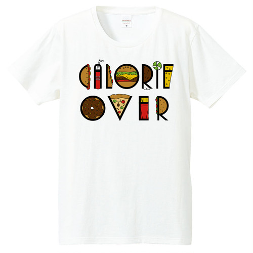 [Tシャツ] Calorie over taypo