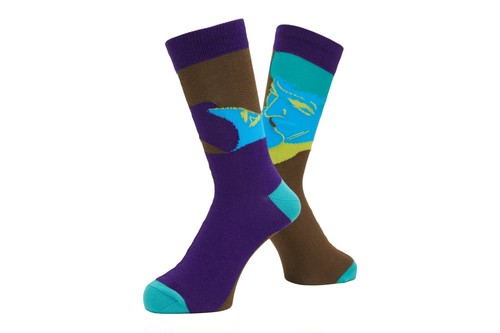 WHIMSY / AFTERNOON DELIGHT SOCKS -PURPLE-