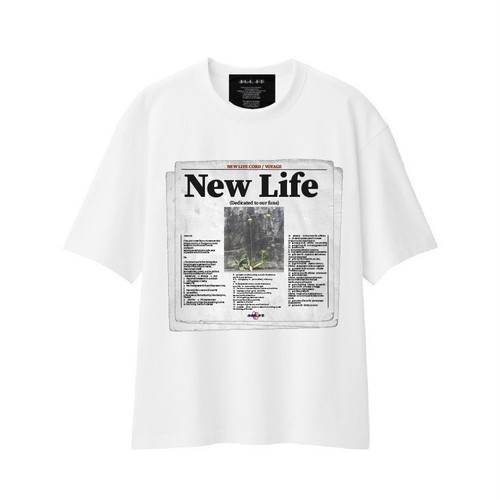 ILL IT - NEW LIFE PAPER COVER T-SHIRT (WHITE)
