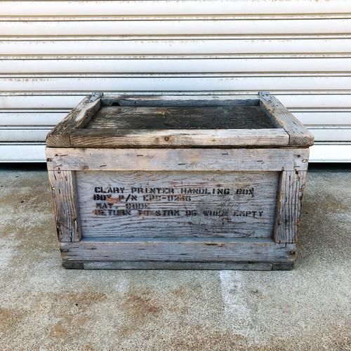品番2437 木箱 ウッドボックス 蓋付き 取っ手付き レトロ インテリア ディスプレイ ヴィンテージ