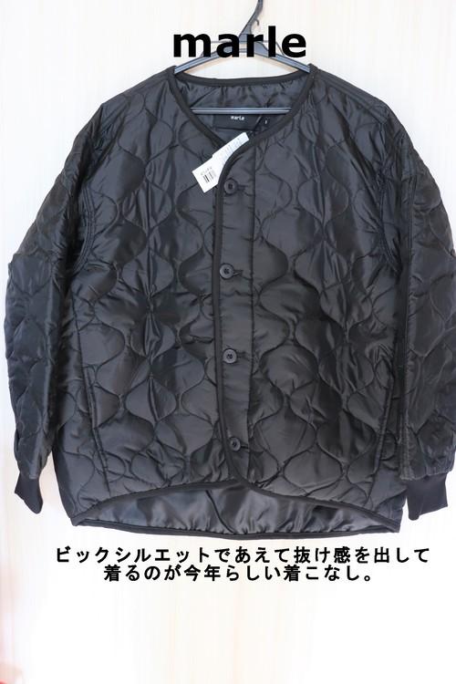 marleウェーブキルトショートジャケット キルティングジャケットブラック/1(M)