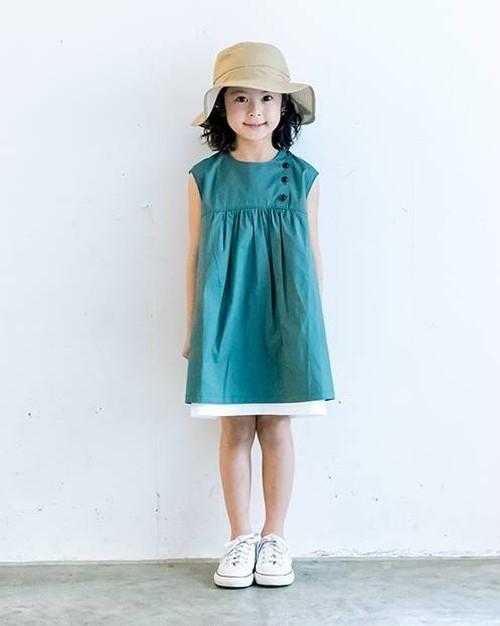 KIDS:6°vocaLe【セスタヴォカーレ】ユーティリティーワンピース(グリーン/130〜150cm)