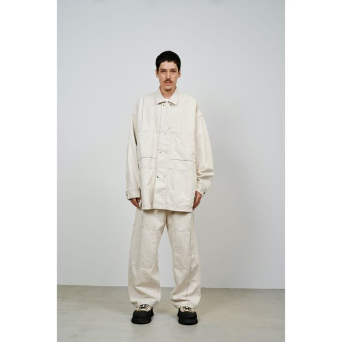 【FILL THE BILL】C/L LINE STITCH BIG PAINTER (ECRU)