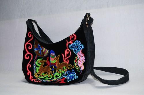 カザフ刺繍のかばん 動物模様 kd-04