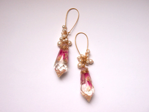 crystal pierced earrings [B]