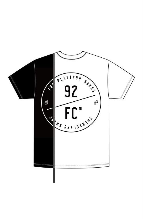 92FC Remake Logo Tee / ホワイト×ブラック