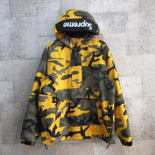 SUPREME 17AW Hooded Logo Half Zip Pullover