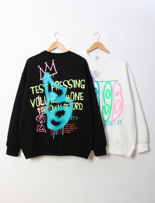 起毛ペイントMTM ★UNISEX MTM トレーナー 韓国ファッション