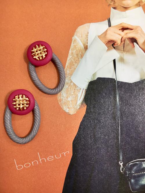 importボタン&ringイヤリング