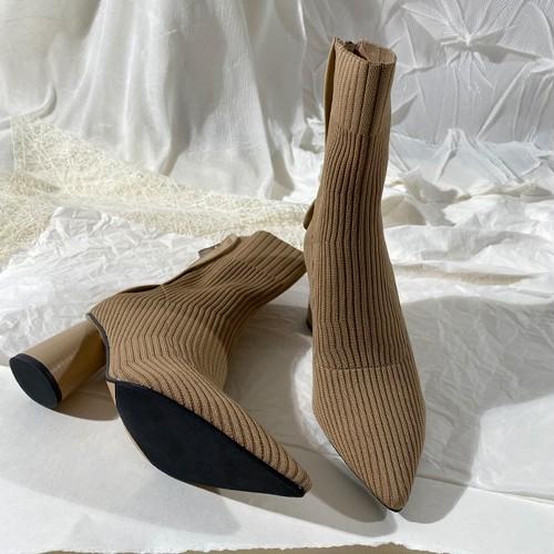 2色/ストレッチニットブーツ ・1861