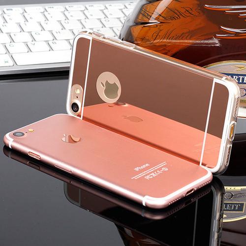 iphone TPU 鏡面 ミラーカバー (iphone7,ピンクゴールド) bpab1016