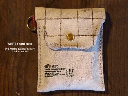 【サンプル品SALE】WHITE : card case  革 カードケース