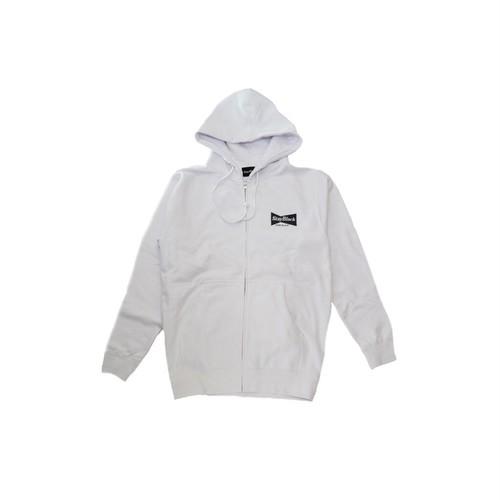 Stay Black Bud Logo Zip Hoody - White