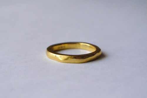 Stone ring 1 -smooth-  (GOLD)