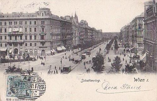 古絵葉書エンタイア「ウィーン」(1903年)