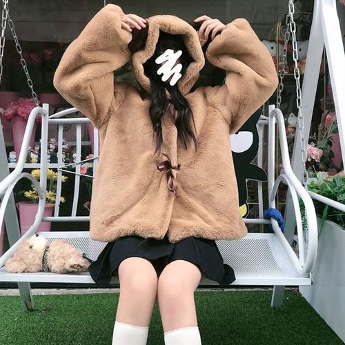 【アウター】秋冬キュートキャンパスラウンドカラーリボンカーディガンアウター