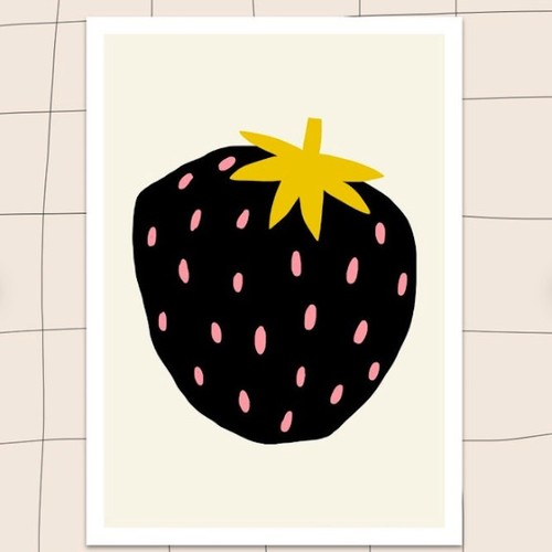 "Jennifer Bouron ""Strawberry"" A4 print"