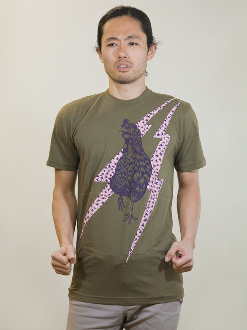 Rooster T-shirt Khaki
