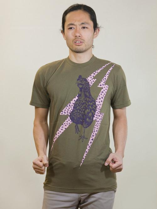 Rooster T-shirt Khaki