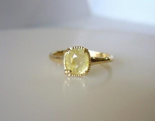 ナチュラルサファイアのK14の指輪