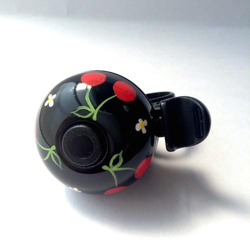 かわいい☆おしゃれな自転車ベル CFB01 さくらんぼの黒