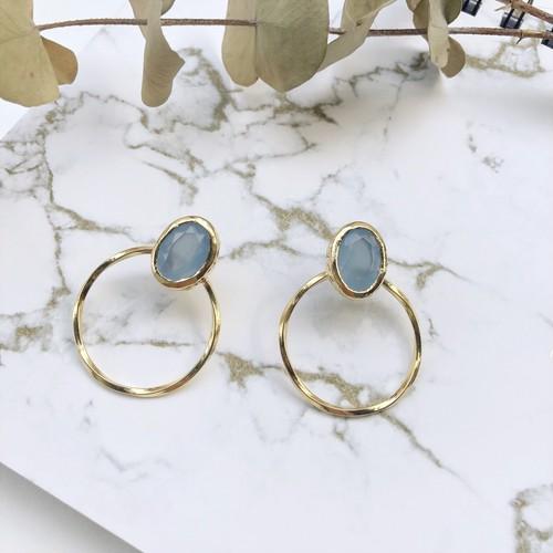 【London collection】Aquamarine pierce