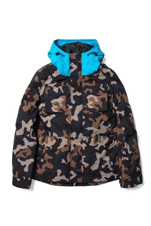 M-65 Hoodie Jacket / camo x blue