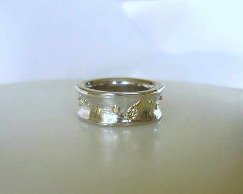 Silver&Gold vine Ring