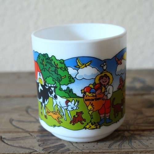 arcopal アルコパル フランス製ミルクガラスのマグカップ