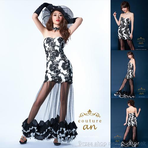 人気の為再入荷 2色展開 (S,Mサイズ) 神戸コレクション出演ドレス ミニドレス ¥49.680- (税込) キャバドレス パーティー ドレス AOC-2052