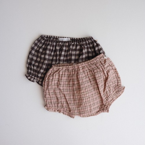 benebene CHECKER BLOOMERS(全2色/12M,18M,24Mサイズ)