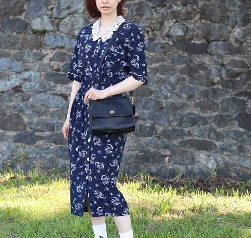 USA VINTAGE LACE COLLAR ONE PIECE/アメリカ古着レース襟ワンピース
