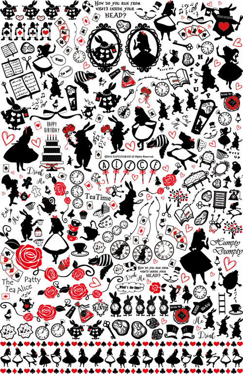 【NEW 縦バージョン】アリス転写紙 A3サイズ(~Alice~ポーセリンアート転写紙)