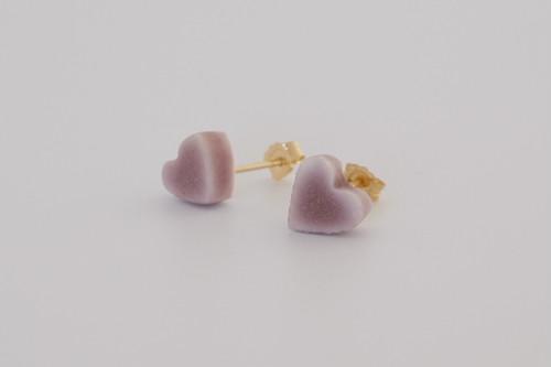 [磁器/14kgf ピアス] 陶磁器ジュエリー / object / スタッドピアス /  heart