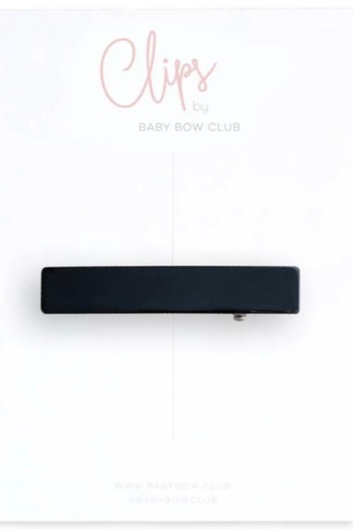 BABY BOW CLUB Bar Clip // Black