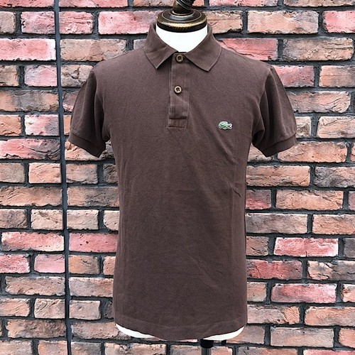 1970s Lacoste Polo Shirt Brown Made In France 3