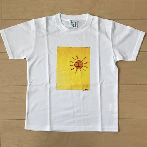 オールドTシャツ企画 スクエアプリントT オレンジ太陽no1 SSサイズ