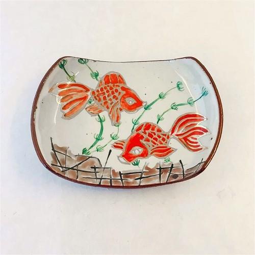 井上工房 6-10 金魚文タイコ絵皿