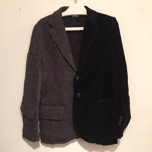 【OLD PARK】2 FACES JACKET TWEED × VELOUR [M] OP-133