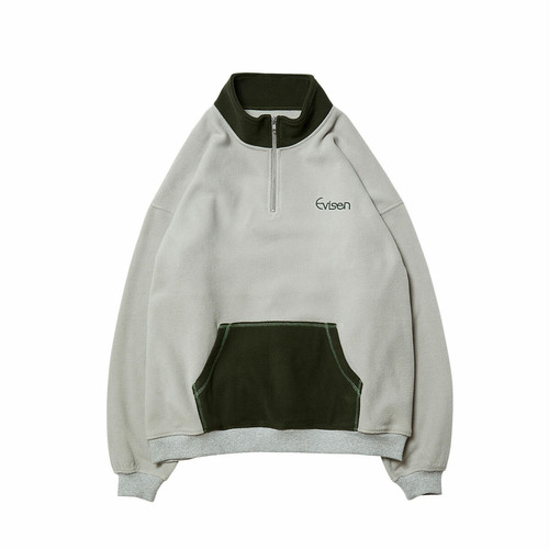 EVISEN FREEZE FLEECE ZIP GREY L エビセン フリース