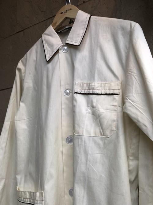 Deadstock Old German cotton pajama shirts