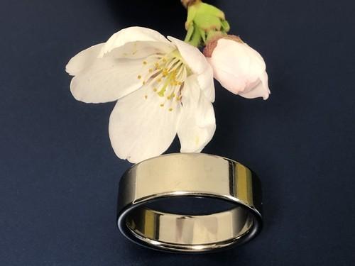 結心指輪 純チタン(平打ち6mm)