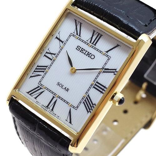 セイコー SEIKO 腕時計 メンズ レディース SUP880P1 クォーツ ホワイト ブラック