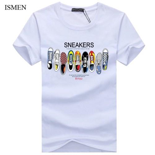 【売り切れ間近】スニーカーロゴデザインTシャツ 3カラー
