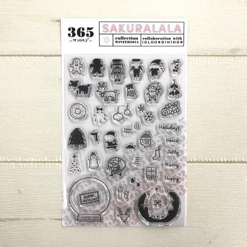 sakuralala X'masクリアスタンプ 365007