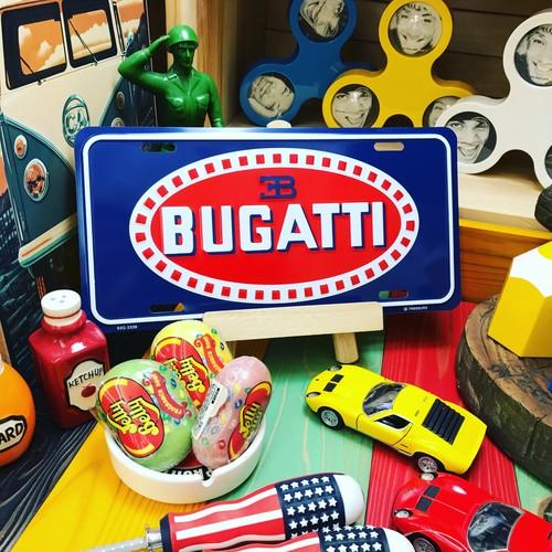 """【22-0201】ガレージプレートS """"BUGATTI"""""""