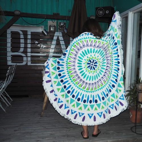 【20%OFF】Beach Round Towel 《GREEN》