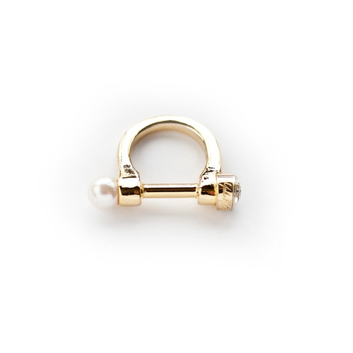 BUCKLE RING/GOLD